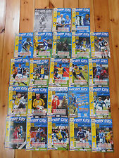 Cardiff City Home Programmes 1999/2000
