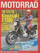 Motorrad 23/78 1978 Bultaco Benelli 350 RS BMW R 80 GS Kawasaki Z1300 KTM 50 RSW