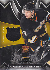 BOBBY RYAN 2012-13 CROWN ROYALE LORDS OF THE NHL GAME USED JERSEY