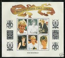 ANGOLA, # 1008-1009 PRINCESS DIANA MEMORIAL Miniature Sheets