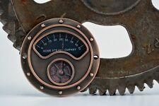 Steampunk Gauge Face - Copper - Steampunk Art Industrial Gauge - Steampunk Gears