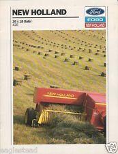 Farm Equipment Brochure - New Holland - 426 - 16x18 Baler - 1988 (F1418)