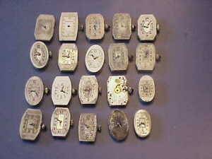 LOT OF 20 MECHANICAL WATCH MOVEMENT FOR VINTAGE VICTORIAN STYLE WATCHES-PARTS