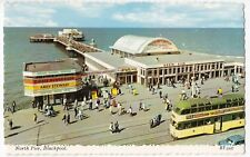 Lancashire; Blackpool, North Pier PPC Unposted By Valentines, Shows Balloon Tram