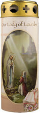 OUR LADY OF LOURDES DEVOTIONAL HOLY CANDLE 100's OF STATUES AND PICTURES LISTED