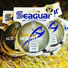 Seaguar ACE Hard Fluorocarbon Salmon & Saltwater Leader Material 13 Options