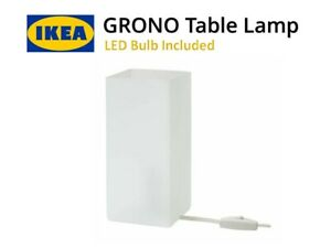IKEA GRONO Table Lamp with LED Bulb Frosted Glass White