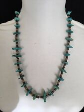 Beautiful Vintage Navajo Shell Heishi and Turquoise Nugget Necklace