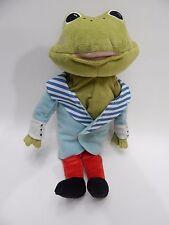 "Plush Frog Toad Prince Tosig Stuffed Animal Toy Removable Jacket 14"" Ikea"