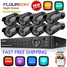 1X8Ch 1080N Ahd Dvr+8Xoutdoor 3000Tvl 1080P Camera Security System Night Vision