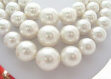 Excellent! 18mm White Sea Shell Pearl Necklace