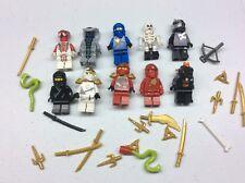 LEGO Ninjago Minifig Lot of 10 MINIFIGS Jay Kai Weapons Lot P479B