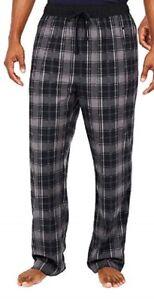 2-Pack Men's Nautica Sleepwear Sueded Fleece Pajamas Pants Grey / Plaid - Large