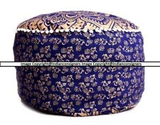 Ombre Mandala Cotton Chair Seat Cover Footstool Ottoman Pouf Cover Indian HIppie