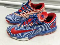 Men's NIKE KD 6 iD White/Red/Blue 627964-992 Athletic Shoes Size 13 US