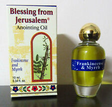 Authentic Blessed Frankincense and Myrrh Jerusalem Anointing Oil 0.34 fl oz
