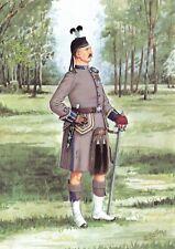 Military Postcard Sergeant Major 14th Battalion London Scottish Reg. 1909 1-5