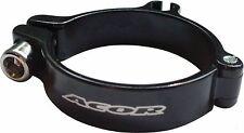 Acor Front Derailleur Alloy Clamp Black w Cable Stop 28.6mm 31.8mm  34.9mm