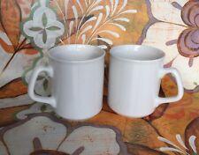 Set of 2 NEW WHITE MUGS for tea coffee SPARTA MUG CUP