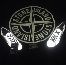 Rare Deadstock S/S 2008 Stone Island Reflective Silver Pont Chaussures OSTI vintage