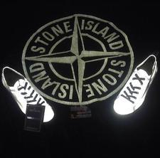Rare deadstock S/S 2008 STONE ISLAND Riflettente Argento Deck Scarpe Osti vintage