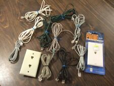 Assorted Telephone Phone Lines Cords Cables Wall Plug