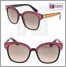 f17fcd9a71 PRADA TAPESTRY Square PR05US Pink Orange Color Block Black Sunglasses 05U  Women