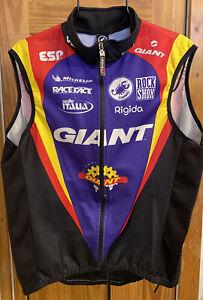 NWOT Castelli Giant Racing Italy Multicolors Zip Size M Windstopper Vest
