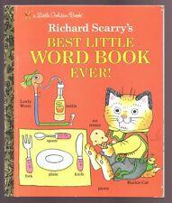 Children's Little Golden Book ~ BEST LITTLE WORD BOOK EVER! ~ Richard Scarry