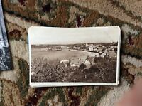 T2-1 postcard unused old hugh town scilly isles st mary's aerial view