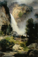 ZOPT1143 100% handmade painted waterfall landscape  art oil painting on canvas