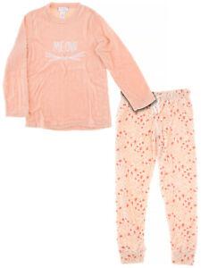 Inteco Intimates Juniors Novelty Print Long Sleeved Fleece Pajamas
