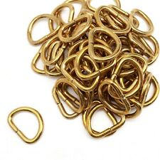 50 pc Lot D Ring Formed Loop Leather Craft Strap Keeper 11/16""