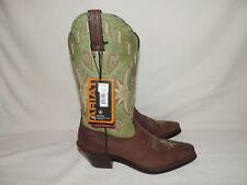 Ariat 15571 ATS Manzanita Leather Cowgirl Boots Brown & Green Women's Sz 6 B