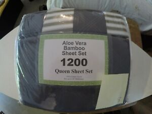 Aloe Vera Bamboo Sheet Set Queen Size Different Colors Brand New Organic 1800
