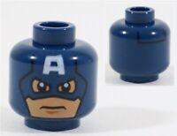 LEGO ORIGINAL CAPTAIN AMERICA MINIFIGURE HEAD PART X1 6865 - MARVEL SUPERHEROES