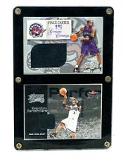 Vince Carter 1999-00 Skybox Metal Genuine Coverage Jersey Relic + Allen Iverson
