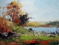 Casa cm.30 x 41 teso quadri olio su tela dipinti arte pittura moderni011