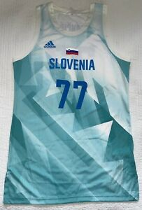 Adidas Luka Doncic Slovenia National Team Olympic Jersey XL 20.5 Chest 35.5 L