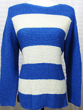 CHICO Size 3 New With Tags Stripe Harley Sweater Blue,White Silver