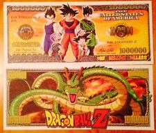 Dragon BallZ Novelty Million Dollar Bill