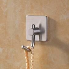 1pcs Stainless Steel Self Adhesive Hooks Bathroom Kitchen Towel Hanger