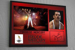 Freddie Mercury The Great Pretender  SIGNED FRAMED  TRIBUTE