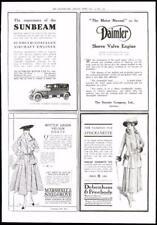 1916-ANTICA STAMPA PUBBLICITARIA SUNBEAM Daimler Marshall Debenham (042)