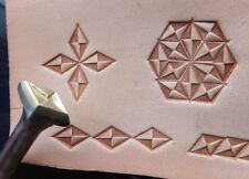 012-06 Envelope border leather stamp handmade Saddlery Tool Punch Brass