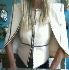 "Sass & Bide ""The Victory"" Ivory Capelet Vest Cape Jacket sz S"
