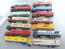 WIKING/Herpa? Camions Liasse, 14 unités DUCOLUX, Kerkhoff, Rama, IPEC, MB MIGROS