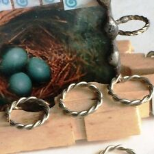 (20 pack) Deco Accent Rings are Twisted Wire 3/8 inch 16 ga Tinned silver Copper