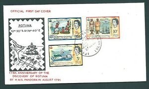 FIJI 1966 Illustrated Rotuma Discovery Anniversary First Day Cover