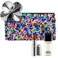 New, MAC 3/Set : Full size NIB Straight Fire + Mini Setting Spray + Makeup Bag